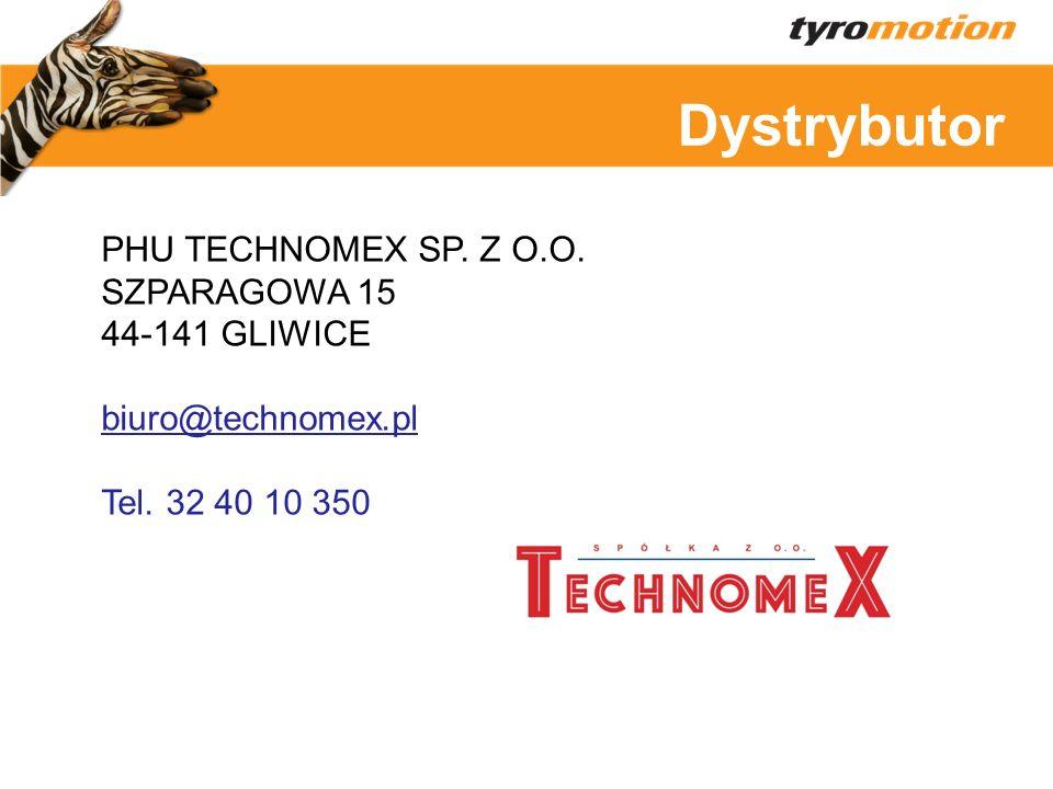 Dystrybutor PHU TECHNOMEX SP. Z O.O. SZPARAGOWA 15 44-141 GLIWICE