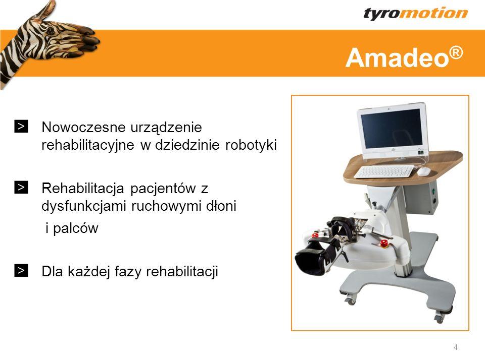 Amadeo® Nowoczesne urządzenie rehabilitacyjne w dziedzinie robotyki
