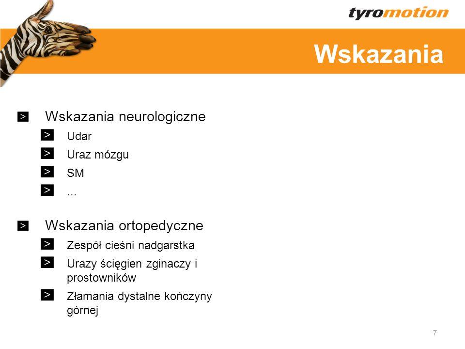 Wskazania Wskazania neurologiczne Wskazania ortopedyczne Udar