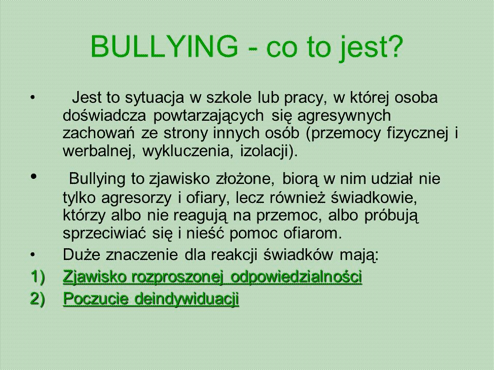 BULLYING - co to jest