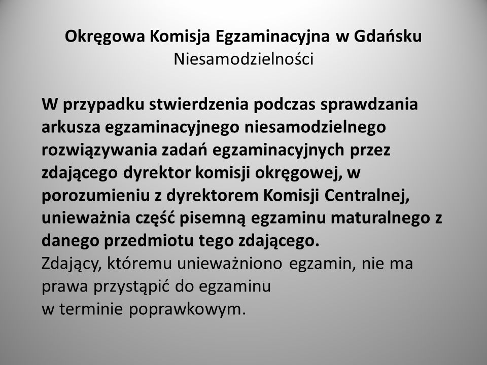 Okręgowa Komisja Egzaminacyjna w Gdańsku