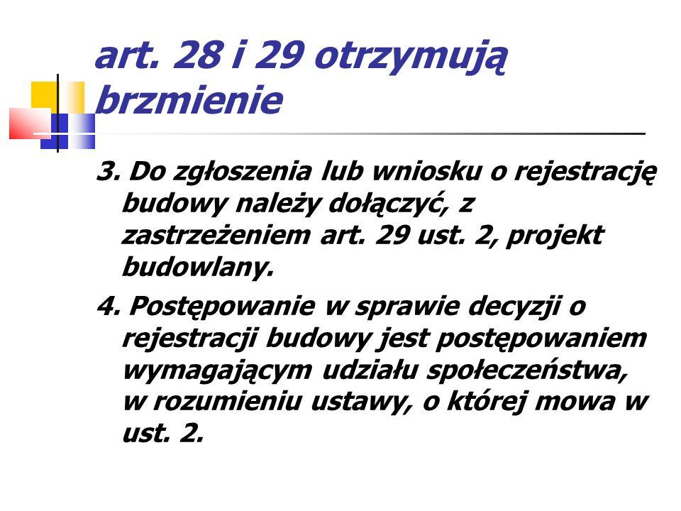 art. 28 i 29 otrzymują brzmienie