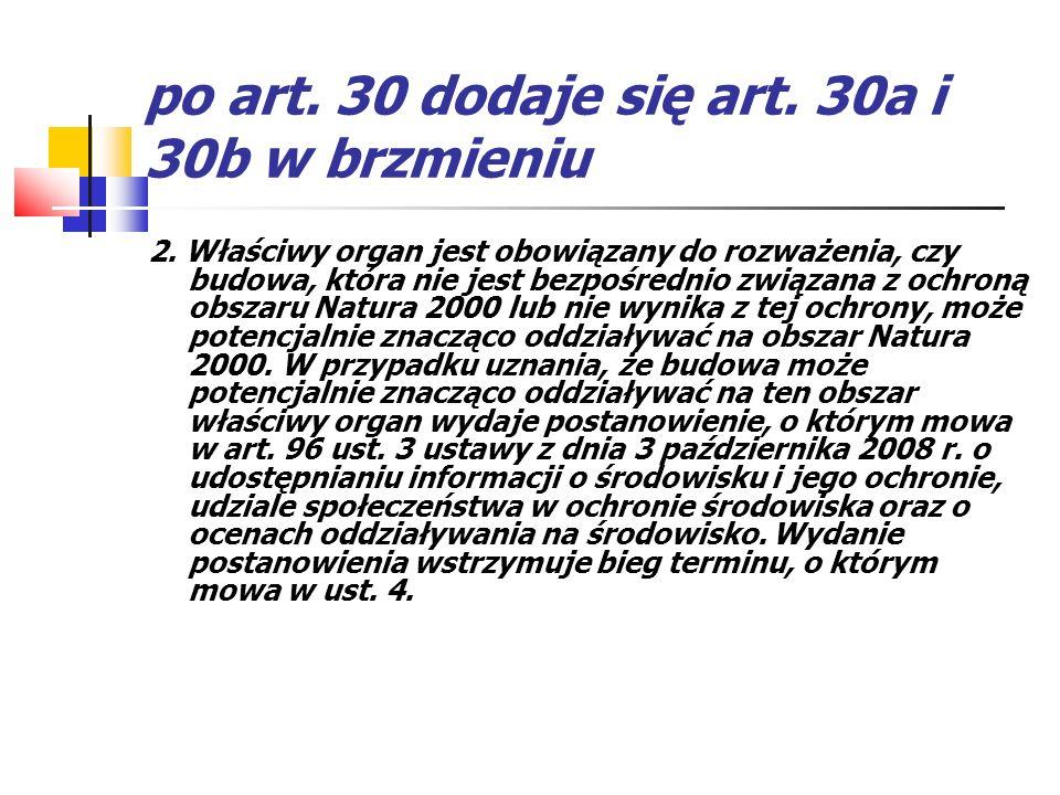 po art. 30 dodaje się art. 30a i 30b w brzmieniu