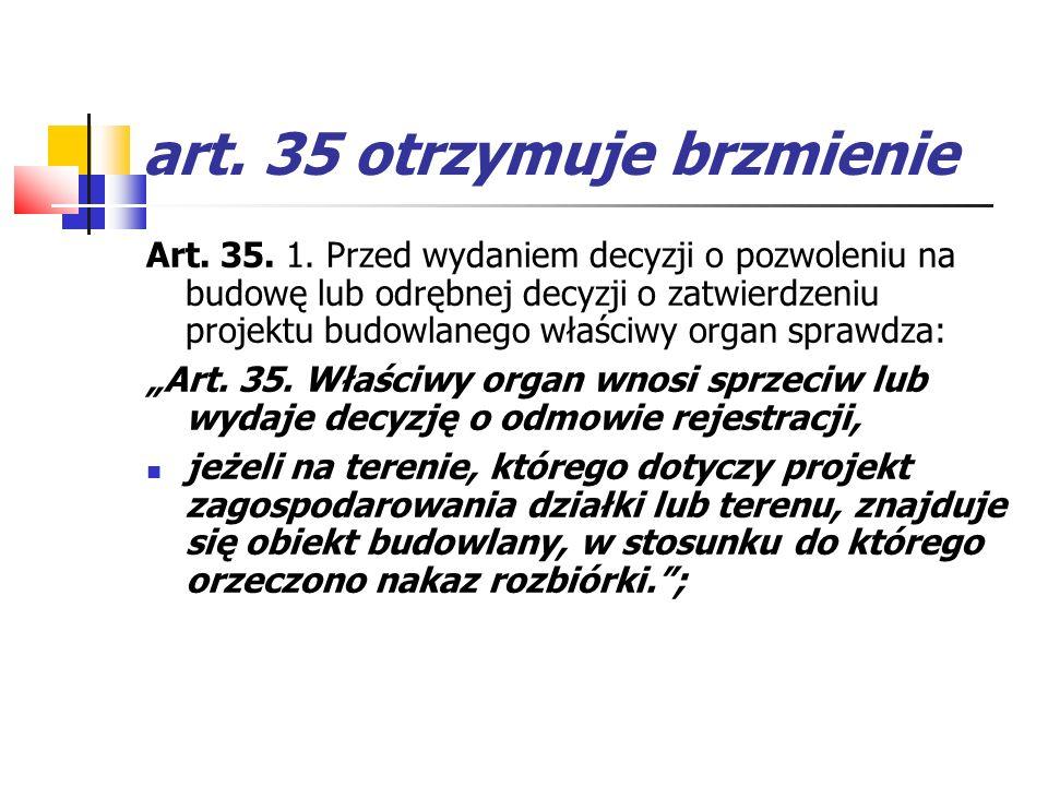 art. 35 otrzymuje brzmienie
