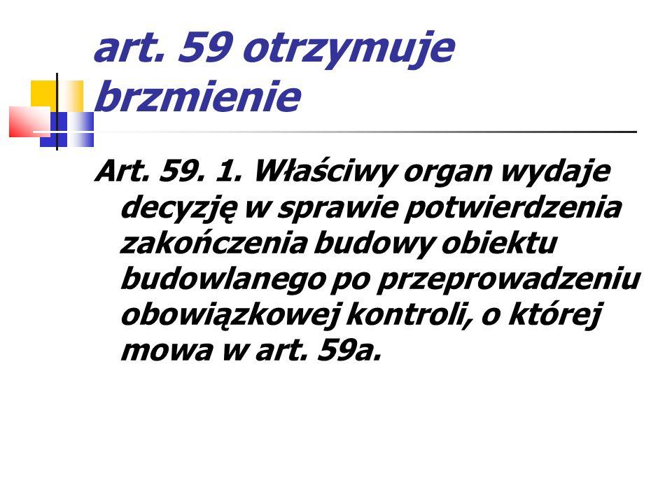 art. 59 otrzymuje brzmienie