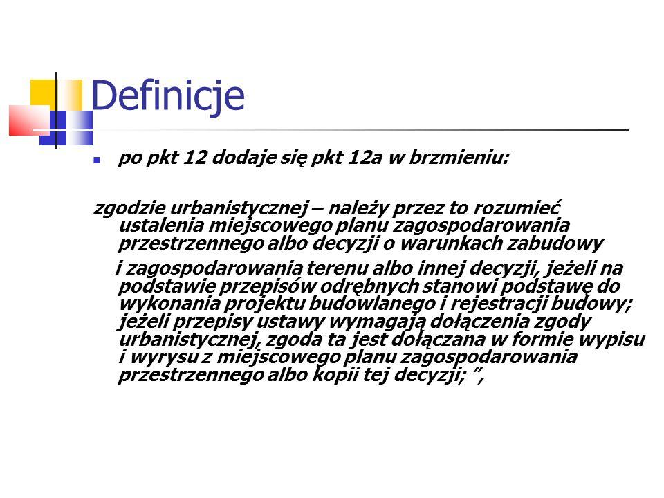 Definicje po pkt 12 dodaje się pkt 12a w brzmieniu: