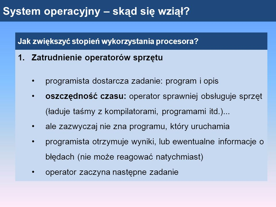 System operacyjny – skąd się wziął
