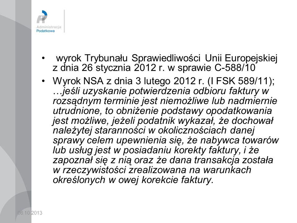 wyrok Trybunału Sprawiedliwości Unii Europejskiej z dnia 26 stycznia 2012 r. w sprawie C-588/10