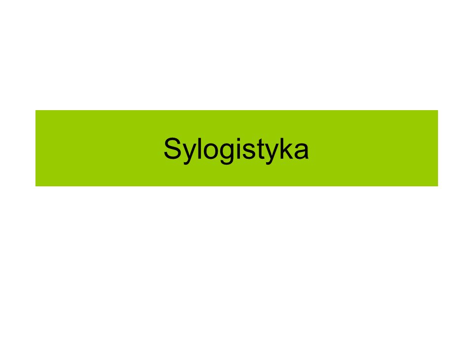 Sylogistyka