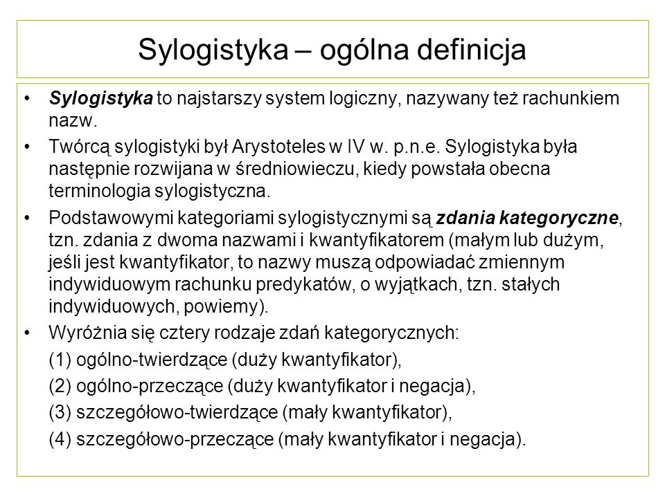 Sylogistyka – ogólna definicja