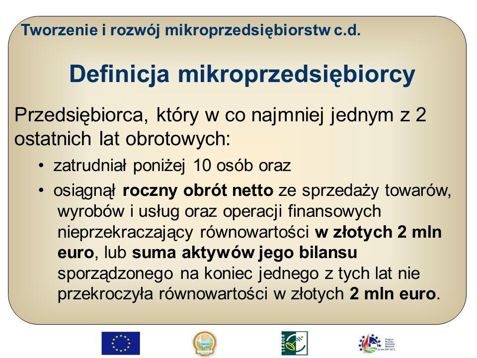 Definicja mikroprzedsiębiorcy