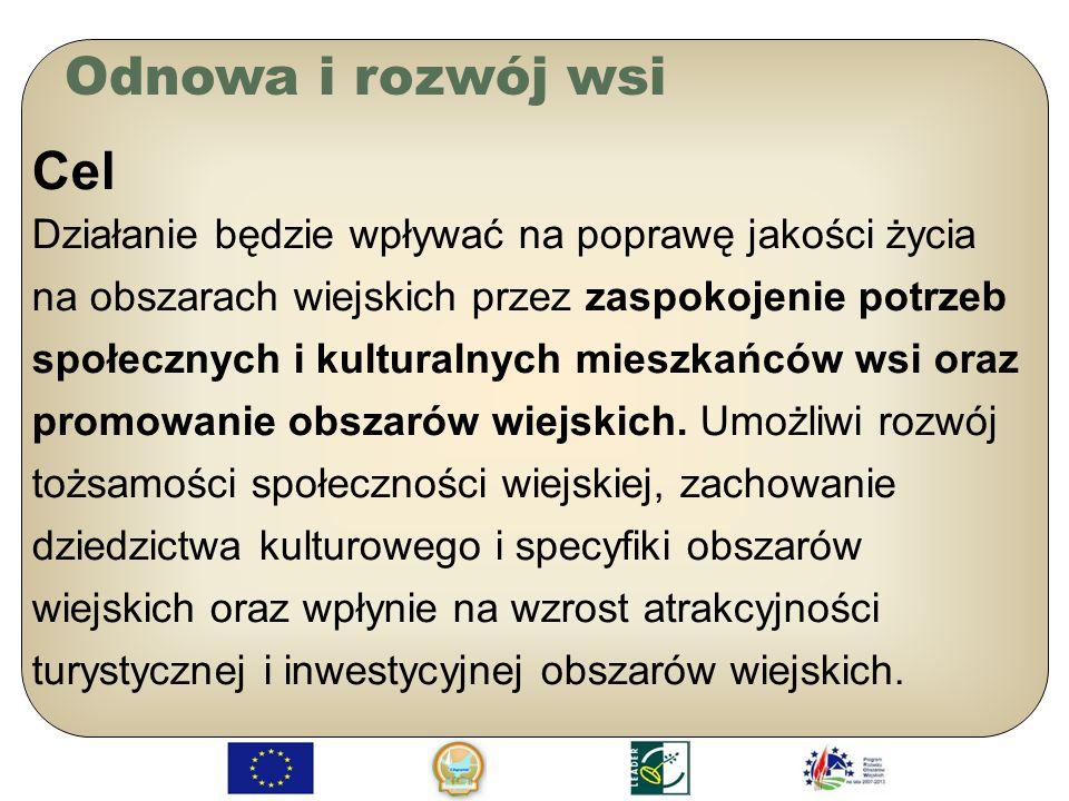 Odnowa i rozwój wsi Cel.
