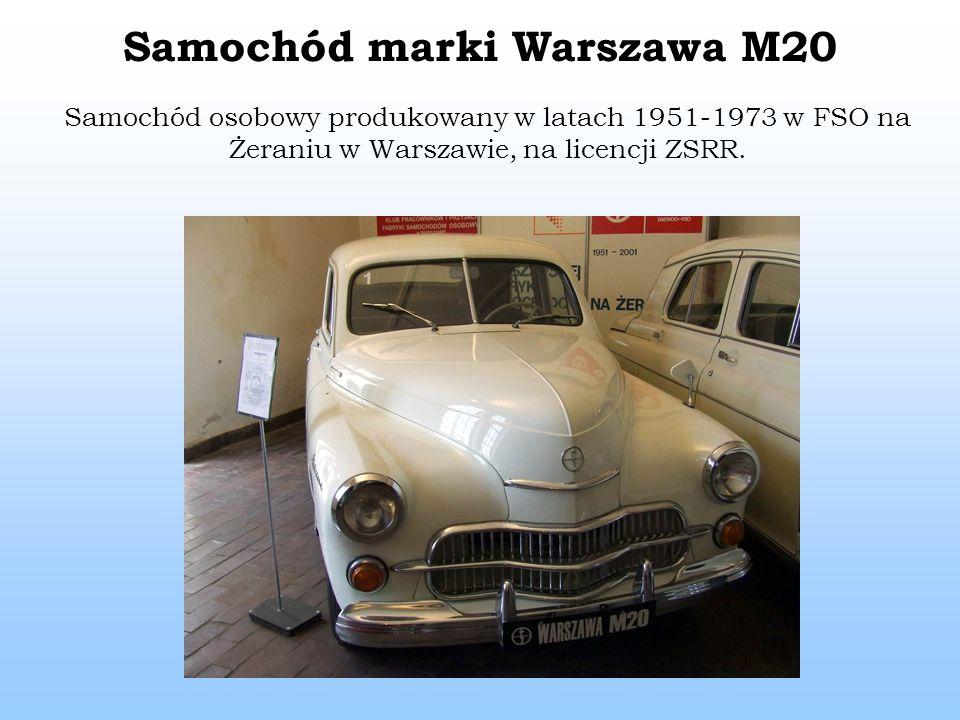 Samochód marki Warszawa M20