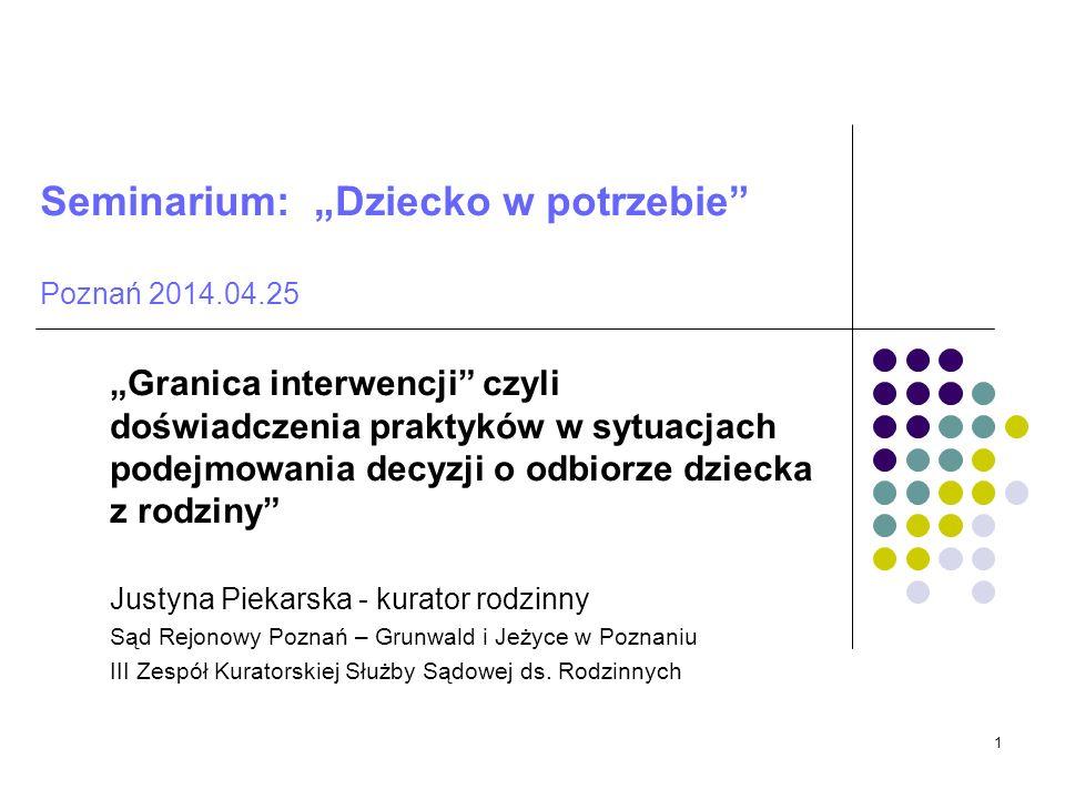 """Seminarium: """"Dziecko w potrzebie Poznań 2014.04.25"""