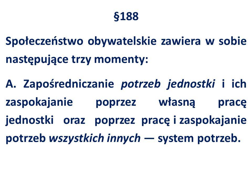 §188 Społeczeństwo obywatelskie zawiera w sobie następujące trzy momenty: A.