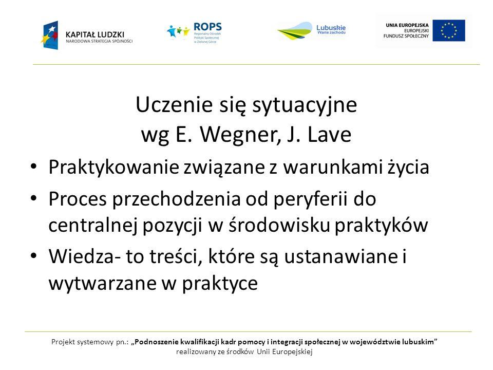 Uczenie się sytuacyjne wg E. Wegner, J. Lave