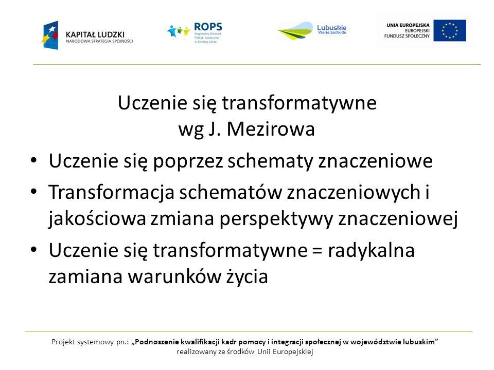 Uczenie się transformatywne wg J. Mezirowa