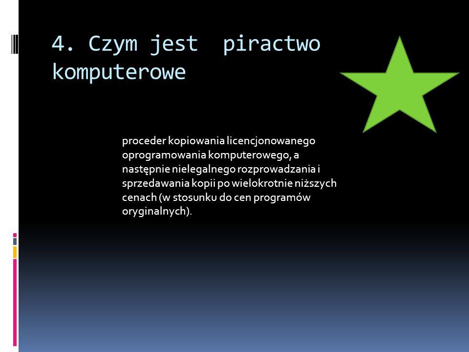 4. Czym jest piractwo komputerowe