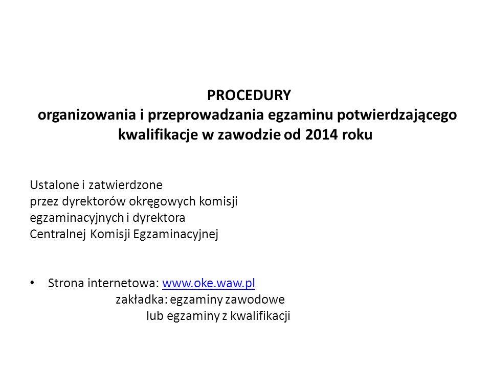 organizowania i przeprowadzania egzaminu potwierdzającego