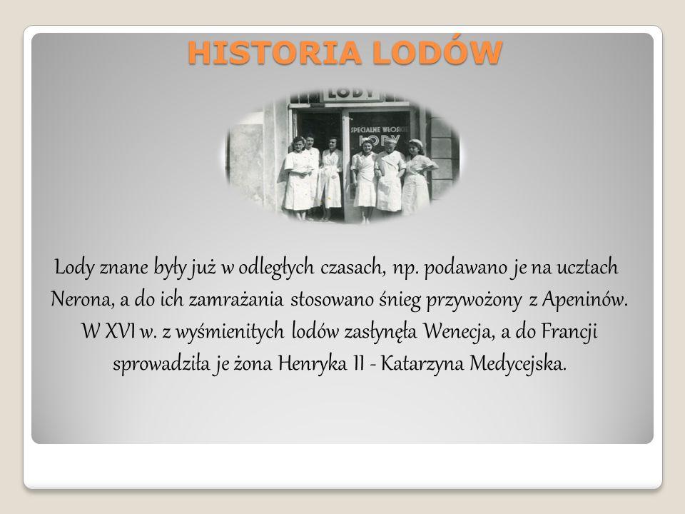 HISTORIA LODÓW