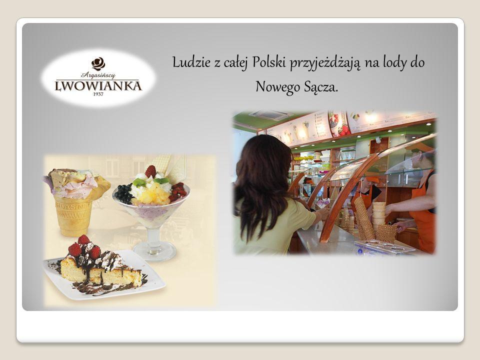 Ludzie z całej Polski przyjeżdżają na lody do Nowego Sącza.
