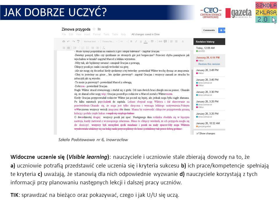 JAK DOBRZE UCZYĆ Szkoła Podstawowa nr 6, Inowrocław.