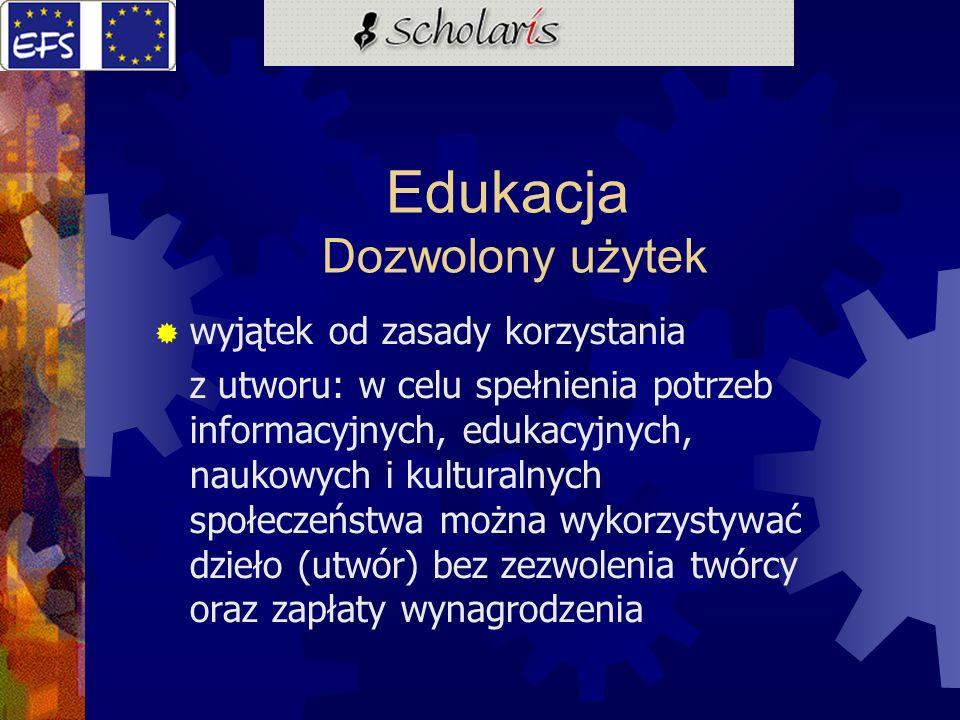Edukacja Dozwolony użytek