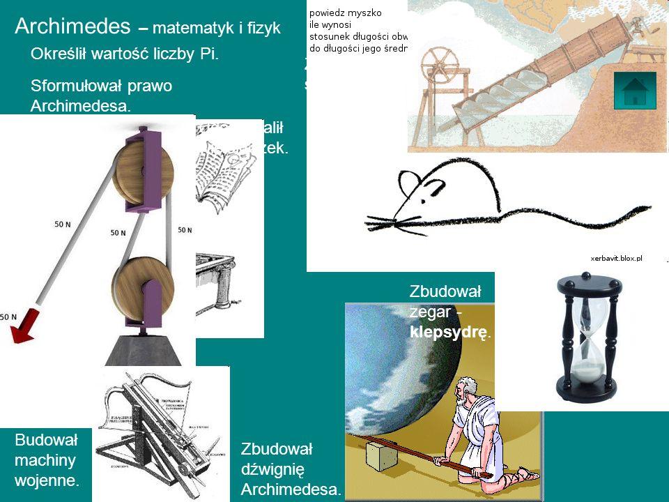 Archimedes – matematyk i fizyk