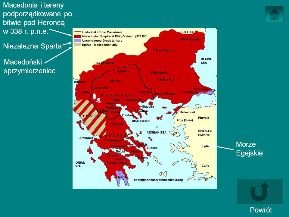 Macedonia i tereny podporządkowane po bitwie pod Heroneą w 338 r. p. n