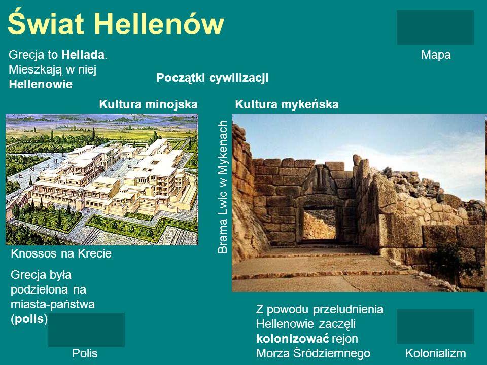 Świat Hellenów Grecja to Hellada. Mieszkają w niej Hellenowie Mapa