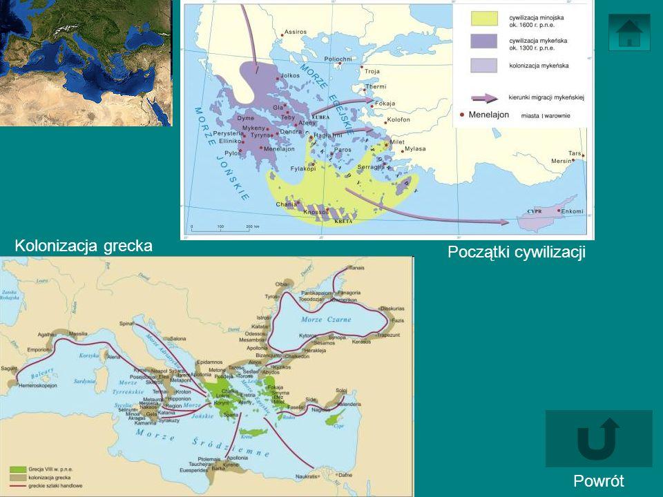 Kolonizacja grecka Początki cywilizacji Powrót