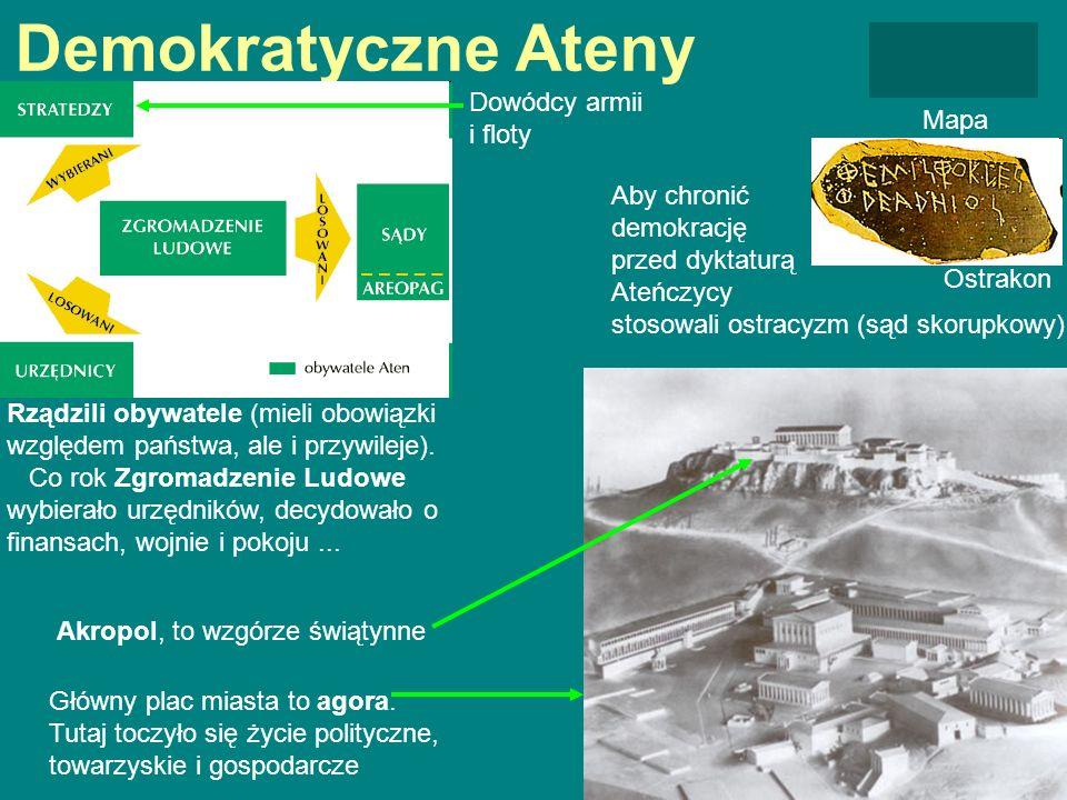 Demokratyczne Ateny Dowódcy armii i floty Mapa