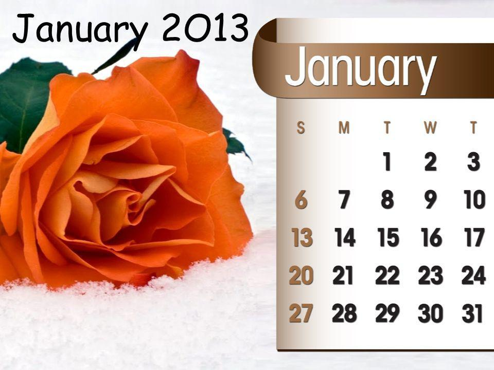 January 2O13