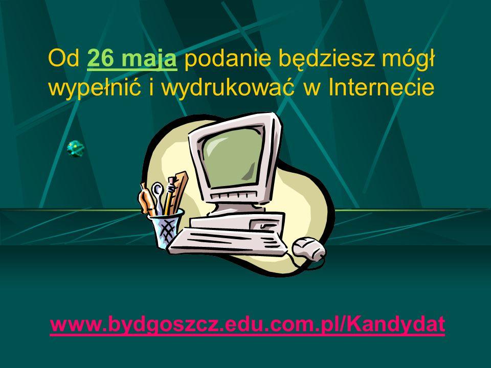 Od 26 maja podanie będziesz mógł wypełnić i wydrukować w Internecie