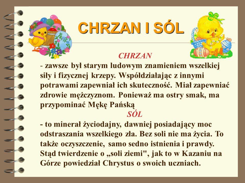 CHRZAN I SÓL CHRZAN.