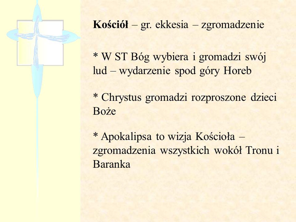 Kościół – gr. ekkesia – zgromadzenie