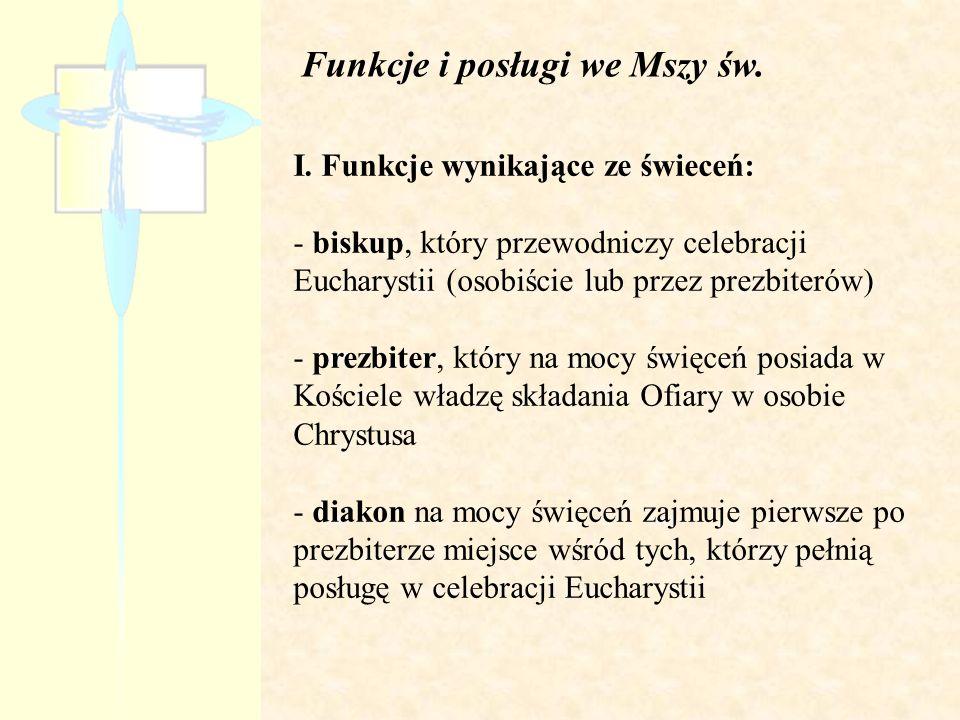 Funkcje i posługi we Mszy św.