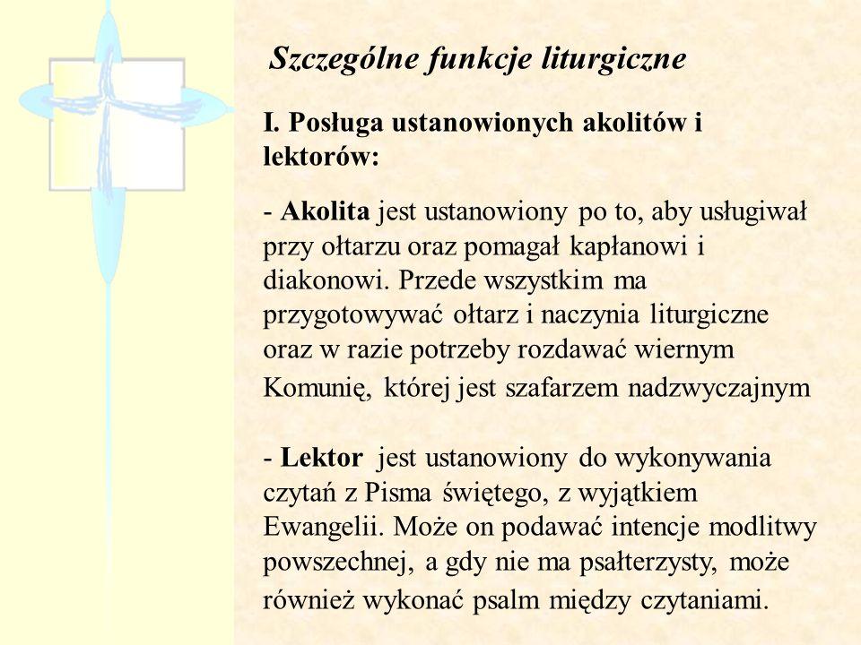 Szczególne funkcje liturgiczne