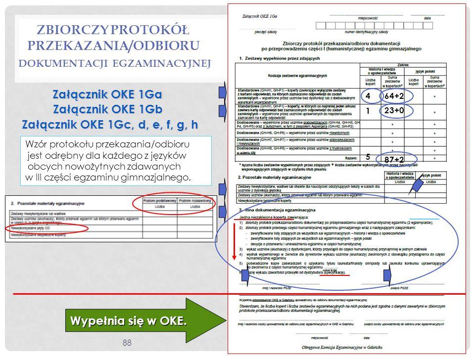 Zbiorczy protokół przekazania/odbioru dokumentacji egzaminacyjnej