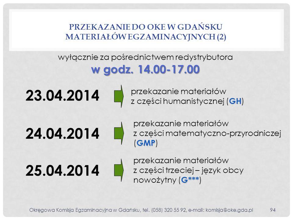 Przekazanie do OKE w Gdańsku materiałów egzaminacyjnych (2)