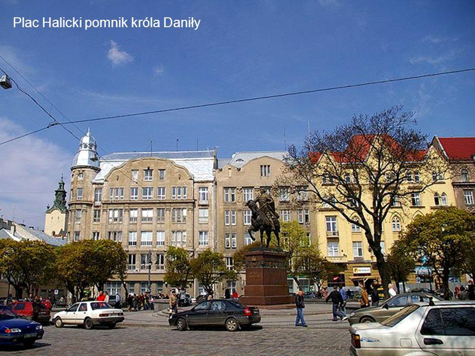 Plac Halicki pomnik króla Daniły