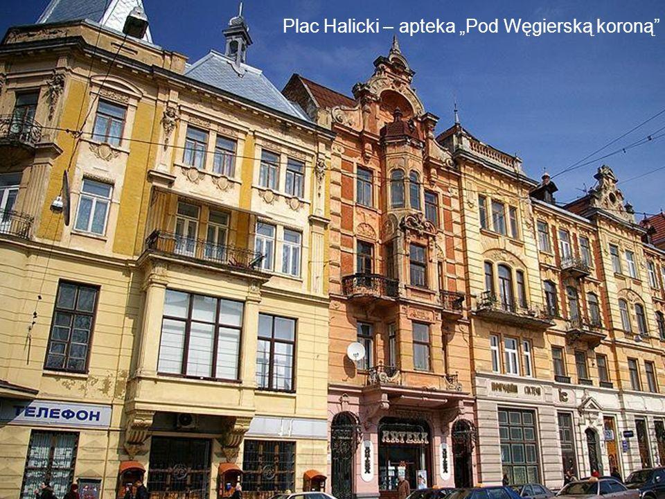 """Plac Halicki – apteka """"Pod Węgierską koroną"""