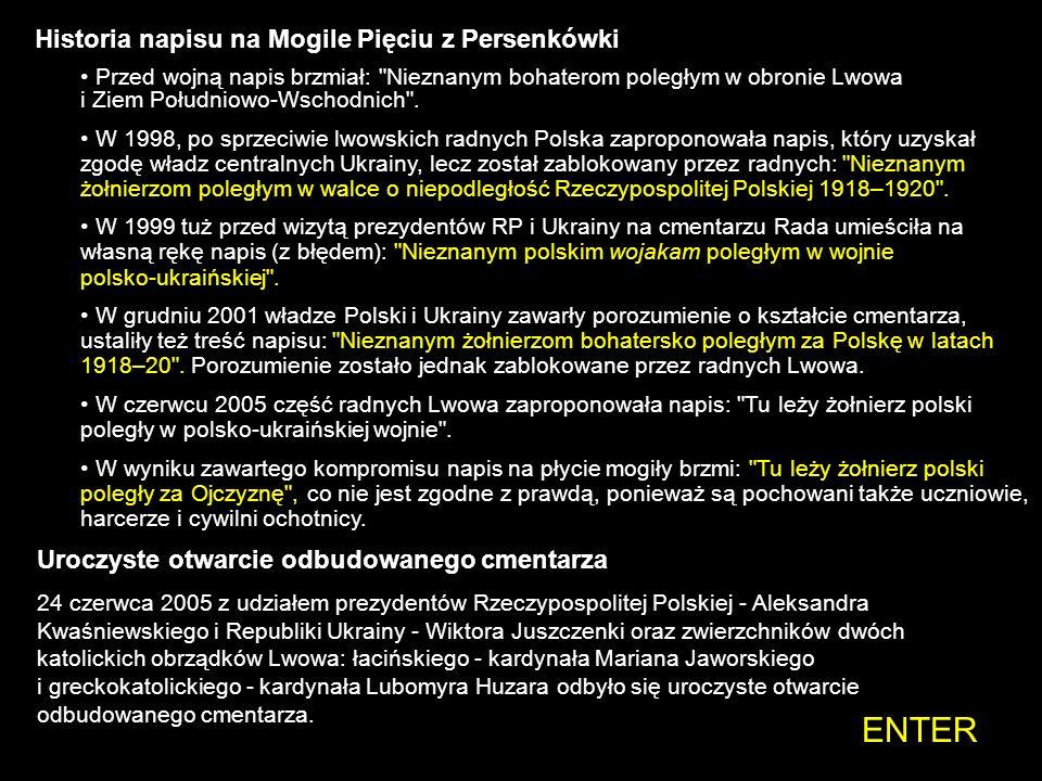 ENTER Historia napisu na Mogile Pięciu z Persenkówki