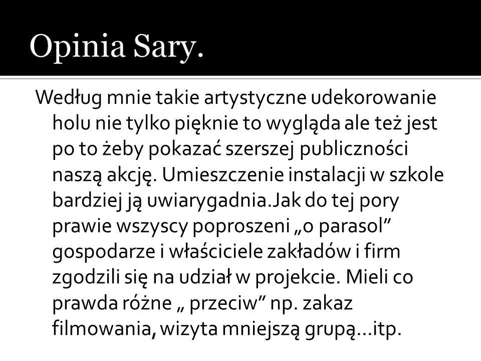 Opinia Sary.