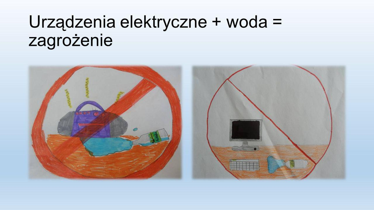 Urządzenia elektryczne + woda = zagrożenie