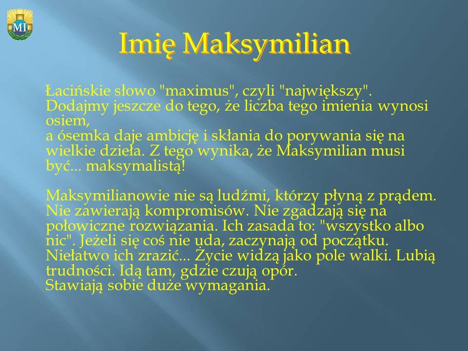 Imię Maksymilian