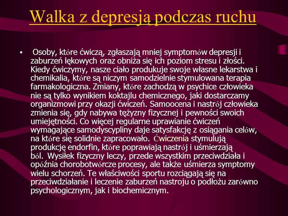 Walka z depresją podczas ruchu