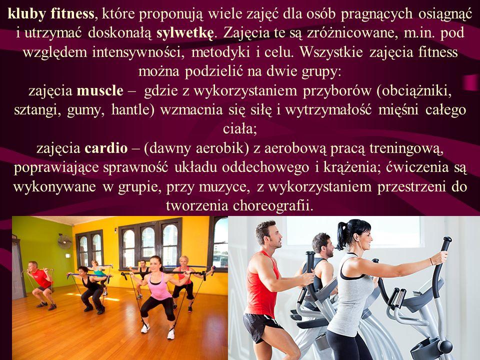 kluby fitness, które proponują wiele zajęć dla osób pragnących osiągnąć i utrzymać doskonałą sylwetkę.