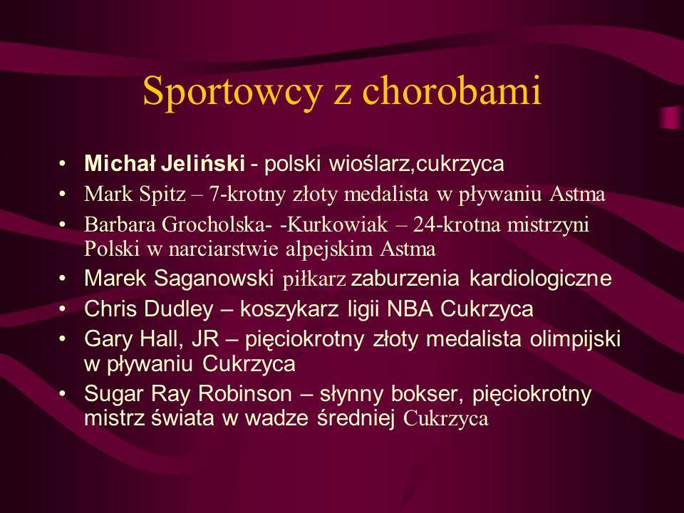 Sportowcy z chorobami Michał Jeliński - polski wioślarz,cukrzyca