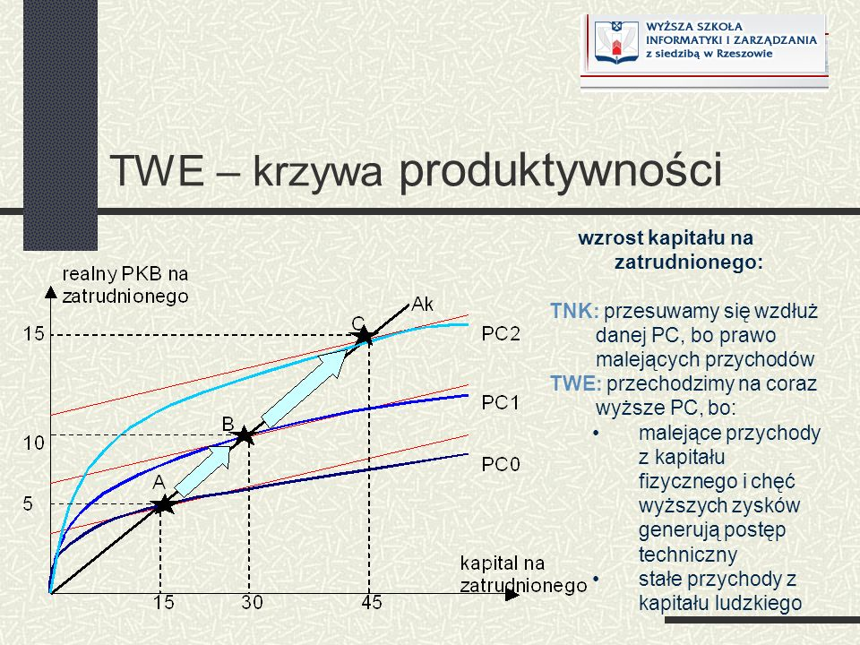 TWE – krzywa produktywności